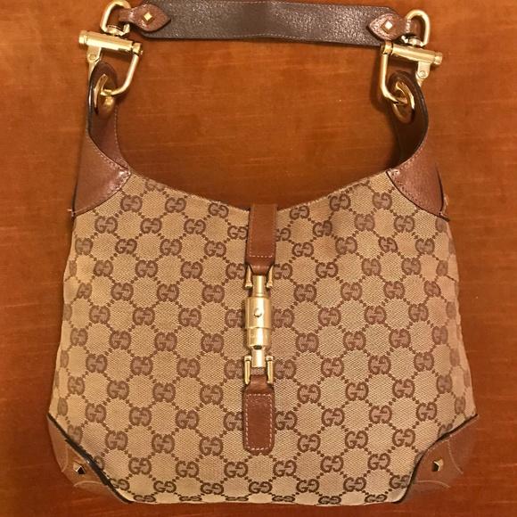 ec93c370cc35b8 Gucci Bags | Vintage Jackie O Gg Shoulder Bag | Poshmark